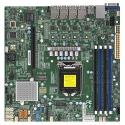 "Supermicro Motherboard 1xCPU X11SCL-LN4F E-22**/ UpTo4UDIMM/ 6x SATA3/ C242 RAID 0/1/5/10/ 4xGE/ 1xPCIx16, M.2 Interface: 1 PCI-E 3.0 x4(9.6"" x 9.6"")"