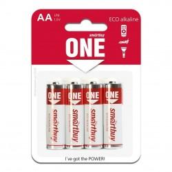 Батарейки AA(LR6) Smartbuy ONE упак 4 шт./1,5В. щелочные