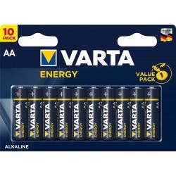 Батарейки AA(LR6) VARTA Energy упак 10 шт./1,5В. щелочные
