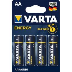 Батарейки AA(LR6) VARTA Energy упак 4 шт./1,5В. щелочные