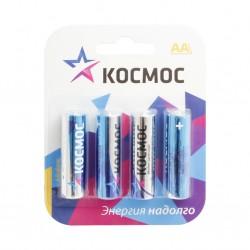 Батарейки AA(LR6) КОСМОС упак 4 шт./1,5В. щелочные