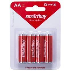 Батарейки AA(R6) Smartbuy упак 4 шт./1,5В. солевые
