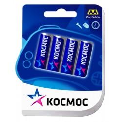 Батарейки AA(R6) КОСМОС упак 4 шт./1,5В. солевые