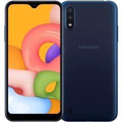 "Смартфон Samsung Galaxy A01 SM-A015F Синий 2sim/5.7""/1520*720/4х1.95ГГц+4*1.45ГГц/2Gb/16Gb/mSD/13+2МП/And/3000mAh"