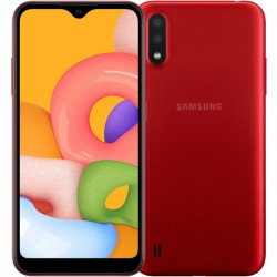 """Смартфон Samsung Galaxy A01 SM-A015F Красный 2sim/5.7""""/1520*720/4х1.95ГГц+4*1.45ГГц/2Gb/16Gb/mSD/13+2МП/And/3000mAh"""