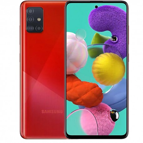 "Смартфон Samsung Galaxy A51 64GB SM-A515F Красный 2sim/6.5""/2400*1080/8х2.3ГГц/4Gb/64Gb/mSD/48+12+5+5Мп/NFC/And9.0/4000mAh"