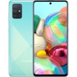 "Смартфон Samsung Galaxy A71 SM-A715F Синий 2sim/6.7""/2400*1080/8х2.2ГГц/6Gb/128Gb/mSD/64+12+5+5Мп"