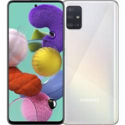 """Смартфон Samsung Galaxy A51 128GB SM-A515F Белый 2sim/6.5""""/2400*1080/8х2.3ГГц/6Gb/128Gb/mSD/48+12+5"""