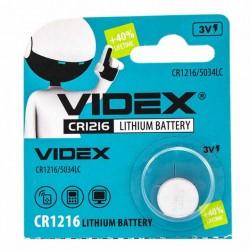 Батарейка CR1216 VIDEX 1 шт./3В. литиевая