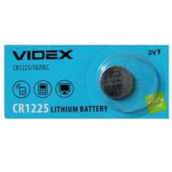 Батарейка CR1225 VIDEX 1 шт./3В. литиевая
