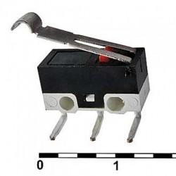 Микропереключатель (ON)-ON, SPDT, 12.8*5.8мм, AC 125в, 1а, рычаг, DM1-02D-30G-G