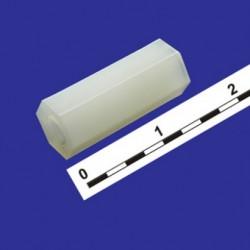 Стойка для платы шестигранник с резьбой M3 HT-315 L=15mm нейлон