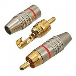 Штекер RCA SZC-0218 /RP-213 кабель, металл, красный