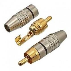 Штекер RCA SZC-0218 /RP-213 кабель, металл, чёрный