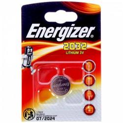 Батарейка CR2032 ENERGIZER упак 1 шт./3В. литиевые