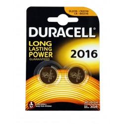 Батарейки CR2016 DURACELL упак 2 шт./3В. литиевые