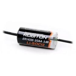 Батарейка ER14335-AX(2/3AA) ROBITON 1 шт./аксиальные выводы, 3,6В. литиевая
