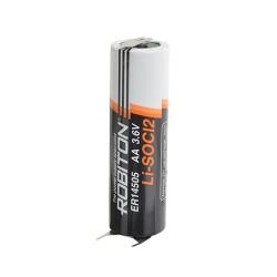 Батарейка ER14505-P1M2(AA) ROBITON 1 шт./плоские выводы под пайку, 3,6В. литиевая