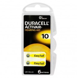 Батарейка DURACELL HEARING AID 10 упак 6 шт./ PR70