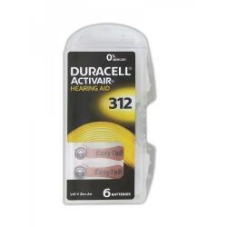 Батарейка DURACELL HEARING AID 312 упак 6 шт./ PR41