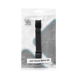Ремешок из нержавеющей стали для Honor Band 4/5 DF hwMetalband-01 (black)