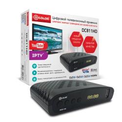 Цифровая приставка DVB-T2 D-Color DC811HD/HDMI 1080p/RCA/TimeShift/ТВгид/запись/дисплей