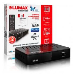 Цифровая приставка DVB-T2 Lumax DV1103HD HDMI 1080p/RCA/TimeShift/ТВгид/запись