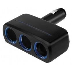 Разветвитель на 2 прикуривателя Neoline SL-300 1xUSB черный,кабель 0,9м