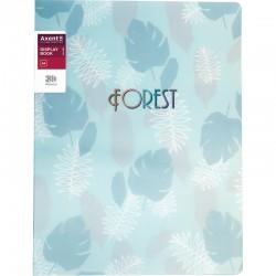 """Папка с 20 вкл. Axent """"Forest"""" бирюзовая (1320-16-A)"""