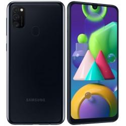 "Смартфон Samsung Galaxy M21 SM-M215F Черный 2sim/6.4""/2340*1080/4х2.3ГГц+4*1.7/4Gb/64Gb/mSD/48+8+5МП"
