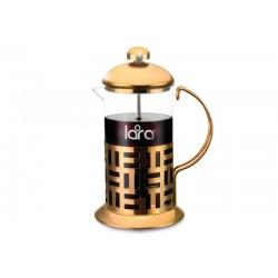 Заварник (френч-пресс) LARA LR06-49 800мл., СТАЛЬНОЙ КОРПУС (цвет - медь) закаленное боросиликатное стекло