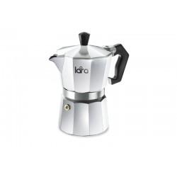 Кофеварка LARA LR06-73 450мл (9х50 мл), для молотого кофе, алюм. корпус, итал. дизайн