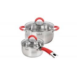 Набор посуды TalleR TR-7151 4 пр:Ковш с крышкой – 1.5 л,кастрюля с крышкой – 3.2 л