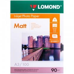 Бумага Lomond  90г/м2, A3, матовая, 100л. (0102011)