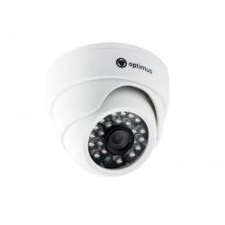"""Видеокамера Optimus AHD-M021.0(3.6)E цветная купольная, 1/4"""", ИК 20м, 1Мп(720P), 3.6мм"""