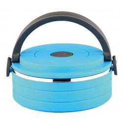 Термоконтейнер Bekker BK-4380 16,5*15*7см,голуб,600 мл,пластик и нерж.сталь,крышка с силиконовым уплотнителем,ручная чистка