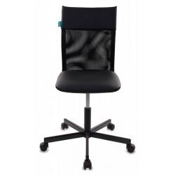 Кресло Бюрократ CH-1399/BLACK спинка сетка, черный, искусственная кожа, крестовина металл