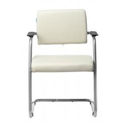 Кресло Бюрократ CH-271N-V/SL/OR-10 молочный, полозья металлик, искусственная кожа (1165893)