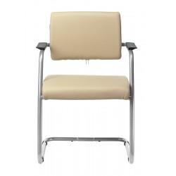 Кресло Бюрократ CH-271N-V/SL/OR-12 светло-бежевый, полозья металлик, искусственная кожа