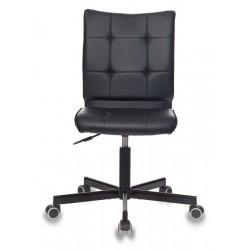 Кресло Бюрократ CH-330M/BLACK без подлокотников, черный, искусственная кожа, крестовина металл