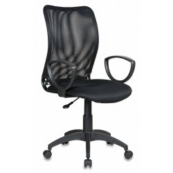 Кресло Бюрократ CH-599AXSN/TW-11 спинка сетка черная, сиденье черное TW-11
