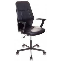 Кресло Бюрократ CH-605/BLACK черный, искусственная кожа, крестовина металл