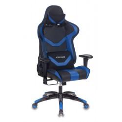 Кресло игровое Бюрократ CH-772N/BL+BLUE две подушки, черный/синий, искусственная кожа (пластик черный)