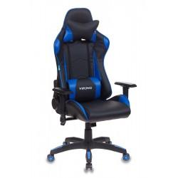 Кресло игровое Бюрократ CH-778/BL+BLUE две подушки, черный/синий, искусственная кожа