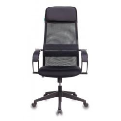 Кресло руководителя Бюрократ CH-608/BLACK спинка сетка черная TW-01, сиденье черное TW-11