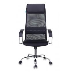 Кресло руководителя Бюрократ CH-608SL/BLACK спинка сетка черная TW-01, TW-11 искусст.кожа/ткань,крестовина хром