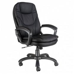 Кресло руководителя БЮРОКРАТ CH-868AXSN/BLACK черный, искусственная кожа (пластик темно-серый)
