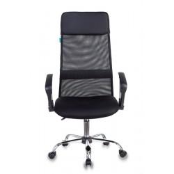 Кресло руководителя Бюрократ KB-6N/SL/B/TW-11 черный TW-01, TW-11 сетка, крестовина хром