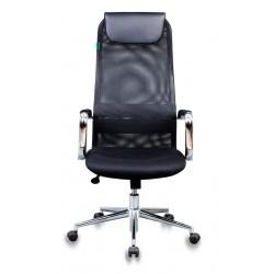 Кресло руководителя Бюрократ KB-9N/BLACK черный TW-01, TW-11 сетка, крестовина хром