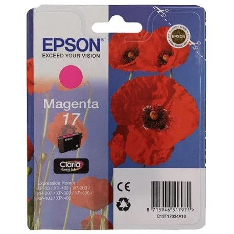 Картридж струйный EPSON C13T17034A10 Magenta для XP33/203/303